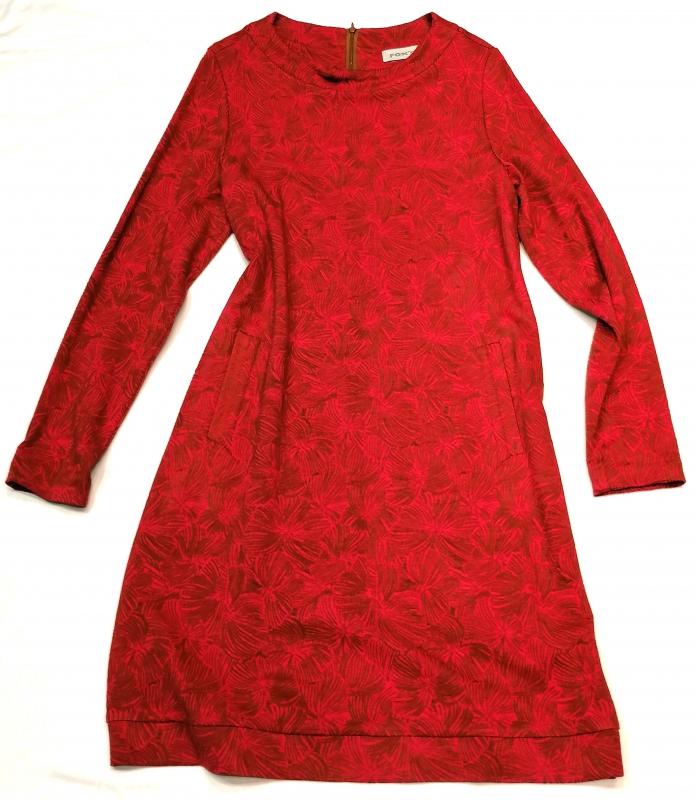 rot gemustertes Ballon-Kleid von Fox`s