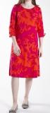 kleid Via Appia Pink-rote Blumen