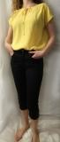 Gelbe, übergeschnittene Bluse